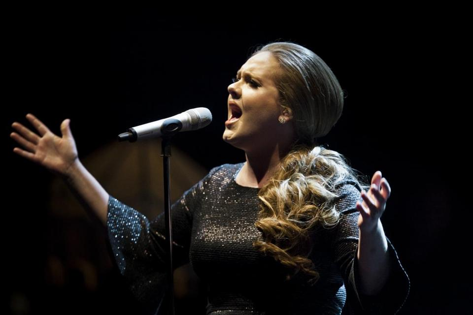 "Adele performs in support of her album ""21"" at the Beacon Theater in New York."